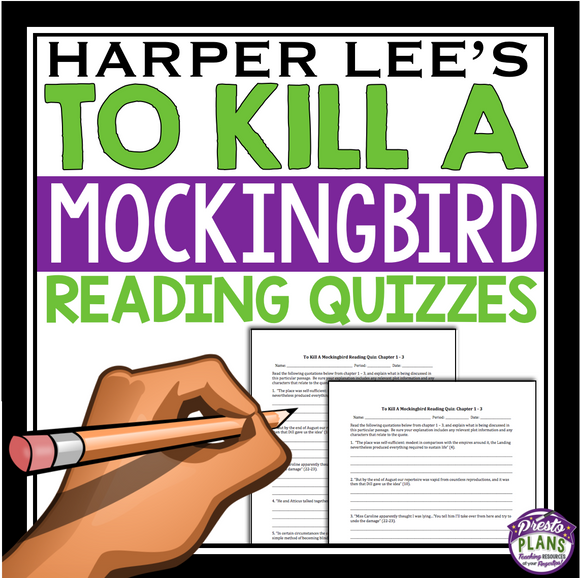 TO KILL A MOCKINGBIRD READING QUIZZES
