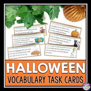 HALLOWEEN VOCABULARY TASK CARDS ACTIVITY