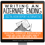 DIGITAL BOOK REPORT PROJECT FOR ANY STORY - ALTERNATE ENDING | DISTANCE LEARNING
