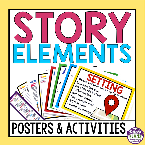 STORY ELEMENTS POSTERS & ACTIVITIES