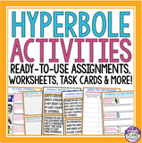 HYPERBOLE ACTIVITIES, ASSIGNMENTS, TASK CARDS & MORE!