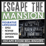 FIGURATIVE LANGUAGE ESCAPE ROOM BELL RINGERS - ESCAPE THE MANSION
