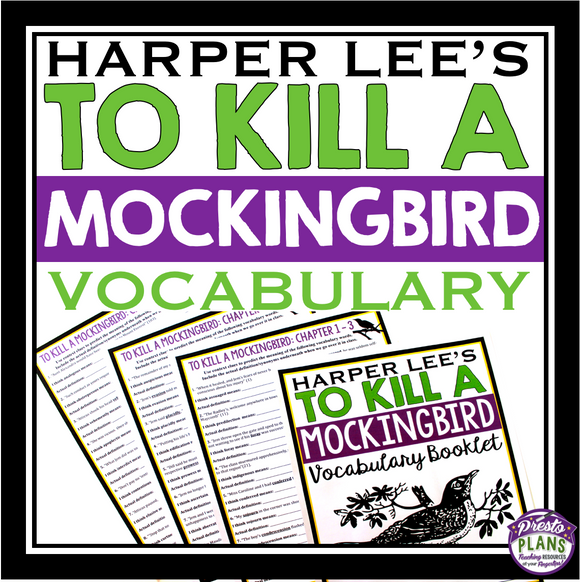 TO KILL A MOCKINGBIRD VOCABULARY
