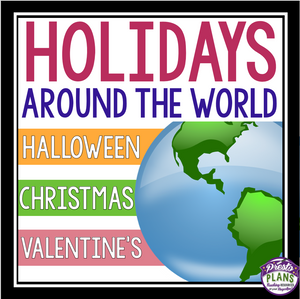 HOLIDAYS AROUND THE WORLD: CHRISTMAS, VALENTINE'S DAY, & HALLOWEEN BUNDLE