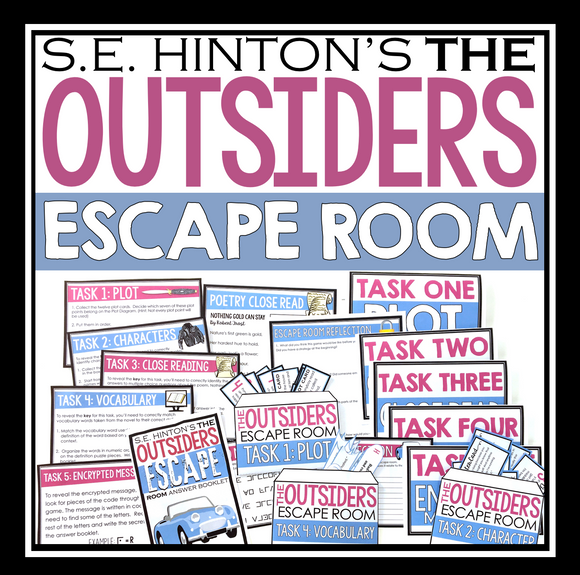 THE OUTSIDERS ESCAPE ROOM NOVEL ACTIVITY