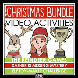 CHRISTMAS ACTIVITIES VIDEO BUNDLE: CLASS MYSTERY / ESCAPE ROOM / TOY MAKING