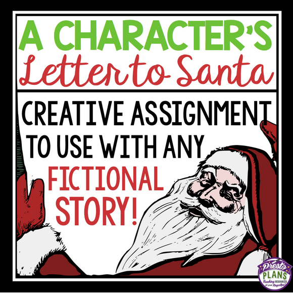 CHRISTMAS WRITING: CHARACTER SANTA LETTER WRITING