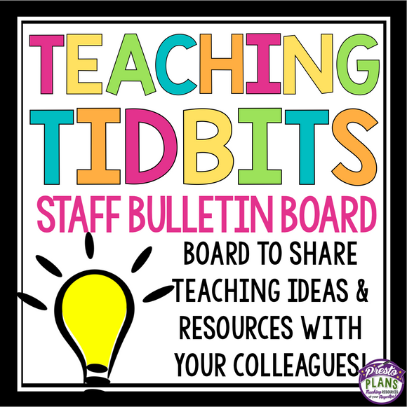 TEACHER BULLETIN BOARD DISPLAY: TEACHING TIPS