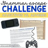 ADJECTIVES VS ADVERBS GRAMMAR ACTIVITY INTERACTIVE ESCAPE CHALLENGE