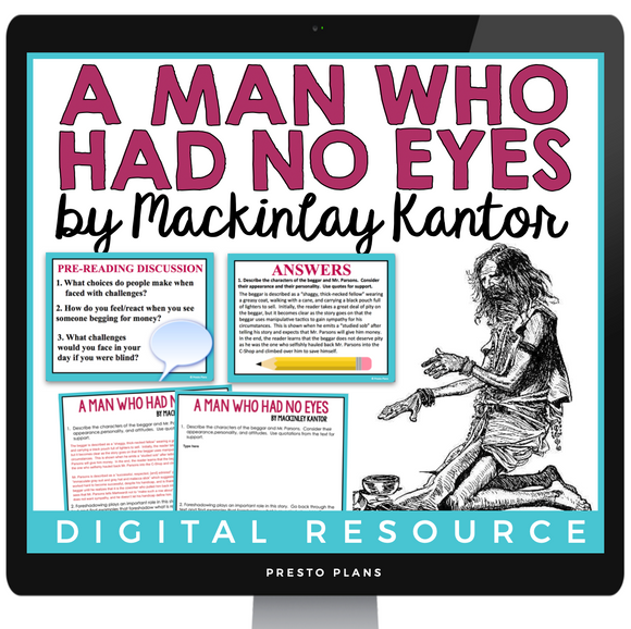 A MAN WHO HAD NO EYES BY MACKINLAY KANTOR DIGITAL SHORT STORY RESOURCES