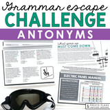 ANTONYMS GRAMMAR ACTIVITY INTERACTIVE ESCAPE CHALLENGE