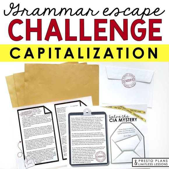 CAPITALIZATION GRAMMAR ACTIVITY INTERACTIVE ESCAPE CHALLENGE