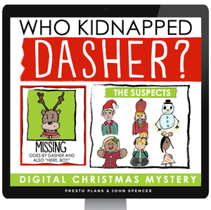 CHRISTMAS MYSTERY DIGITAL ACTIVITY: MISSING REINDEER I DISTANCE LEARNING
