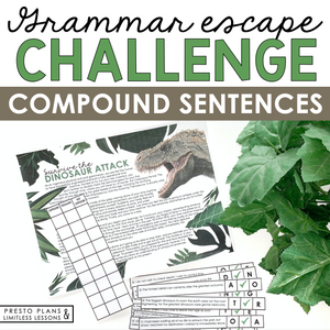 COMPOUND SENTENCES GRAMMAR ACTIVITY INTERACTIVE ESCAPE CHALLENGE