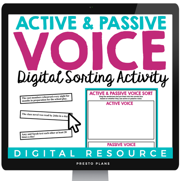 ACTIVE AND PASSIVE VOICE INTERACTIVE DIGITAL SORTING ACTIVITY