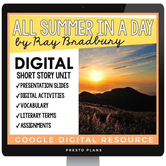 ALL SUMMER IN A DAY BY RAY BRADBURY DIGITAL SHORT STORY RESOURCES