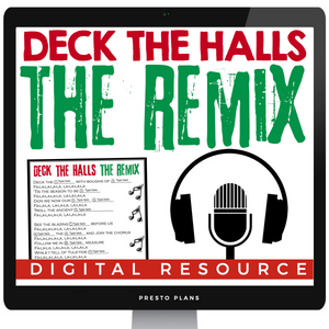 DIGITAL CHRISTMAS ACTIVITY: DECK THE HALLS SONG REMIX | DISTANCE LEARNING