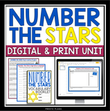 NUMBER THE STARS UNIT PLAN DIGITAL & PRINT BUNDLE | DISTANCE LEARNING