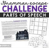 PARTS OF SPEECH GRAMMAR ACTIVITY INTERACTIVE ESCAPE CHALLENGE