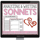 DIGITAL VALENTINE'S DAY POETRY SONNET WRITING