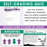 ANTONYMS GRAMMAR ACTIVITY DIGITAL GOOGLE ESCAPE CHALLENGE | DISTANCE LEARNING