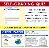 CAPITALIZATION GRAMMAR ACTIVITY DIGITAL GOOGLE ESCAPE CHALLENGE | DISTANCE LEARNING
