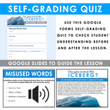 MISUSED WORDS GRAMMAR ACTIVITY DIGITAL GOOGLE ESCAPE CHALLENGE | DISTANCE LEARNING
