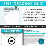 SYNONYMS GRAMMAR ACTIVITY DIGITAL GOOGLE ESCAPE CHALLENGE | DISTANCE LEARNING