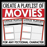 CHARACTER ASSIGNMENT FOR ANY NOVEL OR SHORT STORY - MOVIE PLAYLIST