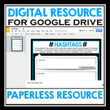 BACK TO SCHOOL DIGITAL ACTIVITY: HASHTAGS (GOOGLE DRIVE)