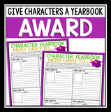 CHARACTER ASSIGNMENT FOR ANY NOVEL OR SHORT STORY - MOST LIKELY TO AWARD