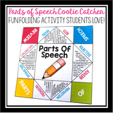 PARTS OF SPEECH ACTIVITY: PAPER FORTUNE TELLER