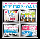 ENGLISH CLASSROOM POSTERS / BULLETIN BOARD