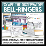 FIGURATIVE LANGUAGE ESCAPE ROOM BELL RINGERS - ESCAPE THE OBSERVATORY