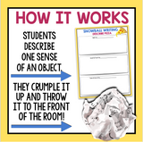 DESCRIPTIVE WRITING ACTIVITY: SNOWBALL WRITING