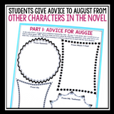 WONDER BY R.J. PALACIO ASSIGNMENT - ADVICE FOR AUGUST