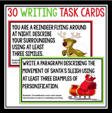 CHRISTMAS FIGURATIVE LANGUAGE WRITING TASK CARDS