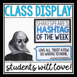 SHAKESPEARE POSTERS: HASHTAG QUOTES