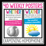 HOMOPHONE POSTERS