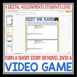DIGITAL SHORT STORY NOVEL ASSIGNMENT: VIDEO GAME GOOGLE | DISTANCE LEARNING