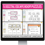 DIGITAL FIGURATIVE LANGUAGE ESCAPE ROOM ACTIVITY | DISTANCE LEARNING
