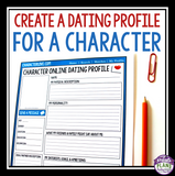 CHARACTER ASSIGNMENT FOR ANY NOVEL OR SHORT STORY: DATING PROFILE