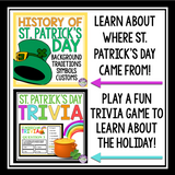 ST. PATRICK'S DAY ACTIVITIES, PRESENTATIONS, & ASSIGNMENTS BUNDLE