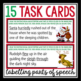 CHRISTMAS PARTS OF SPEECH TASK CARDS ACTIVITY
