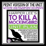 TO KILL A MOCKINGBIRD UNIT PLAN DIGITAL AND PRINT BUNDLE