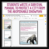 DIGITAL CHRISTMAS WRITING ASSIGNMENT: ABOMINABLE SNOWMAN SURVIVAL MANUAL