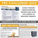 HOMOPHONES THERE, THEIR, THEY'RE GRAMMAR ACTIVITY INTERACTIVE ESCAPE CHALLENGE
