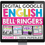 DIGITAL ENGLISH BELL RINGERS (VOL 3): PAPERLESS (USE WITH GOOGLE DRIVE)