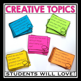 DISCUSSION PROMPT OR WRITING PROMPT CARDS