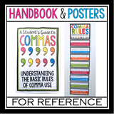 COMMAS: PRESENTATION, TASK CARD ACTIVITY, STUDENT HANDOUT, & POSTERS